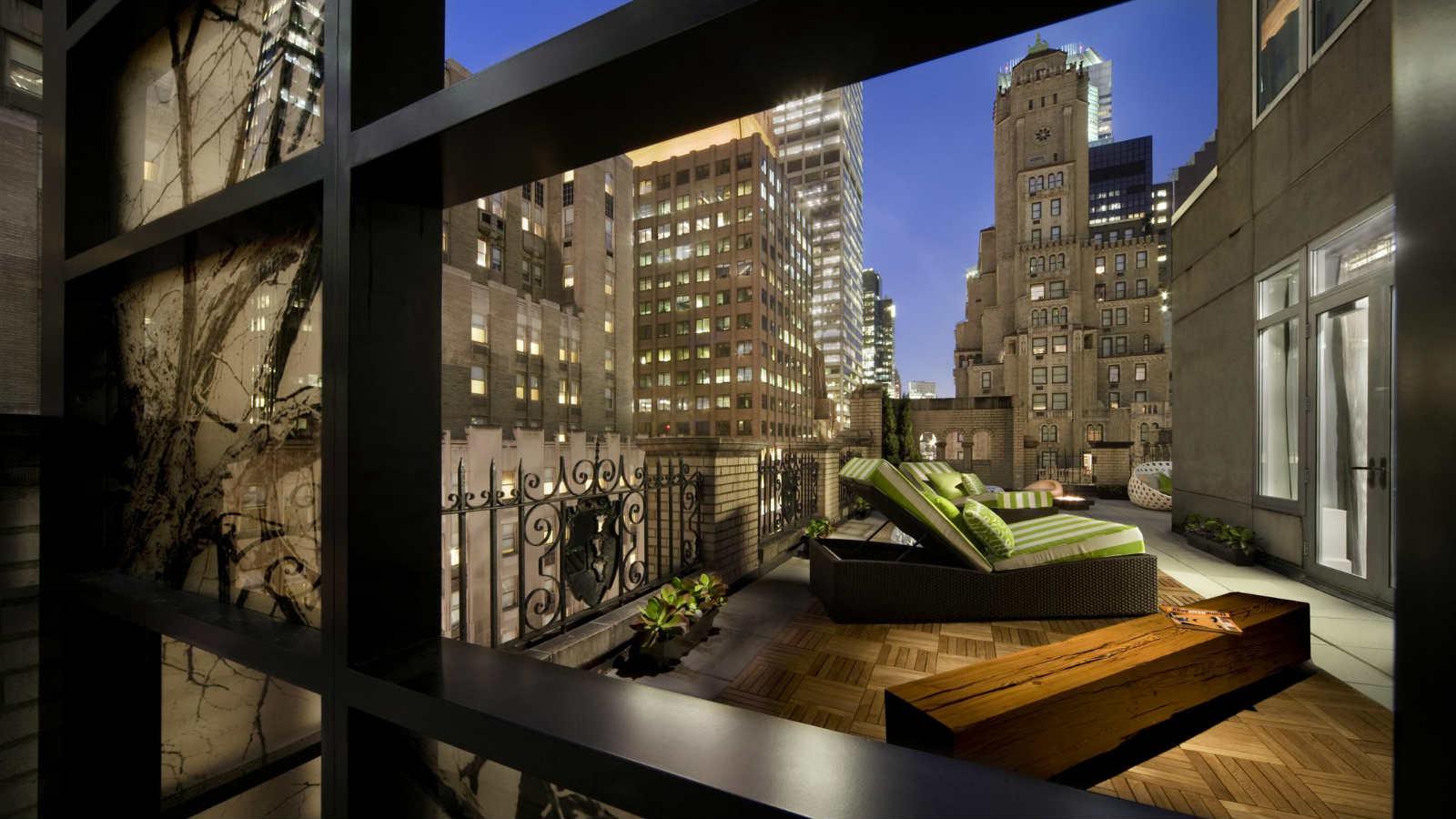 Blick aud Balkon